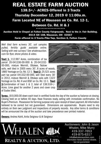 Real Estate Farm Auction - December 12