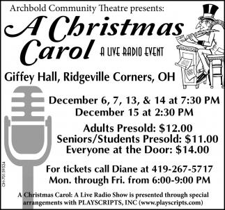 A Christmas Carol - A Live Radio Event