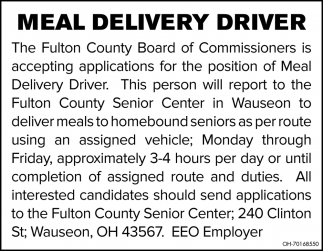 Meal Delivery Driver