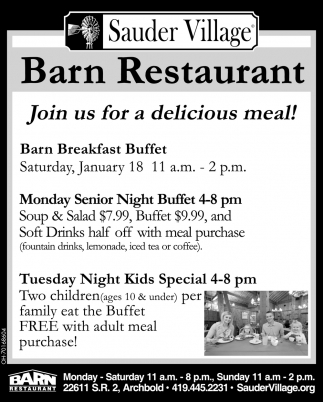 Join us for a delicious meal!