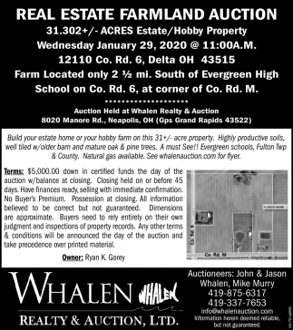 Real Estate Farmland Auction - January 29