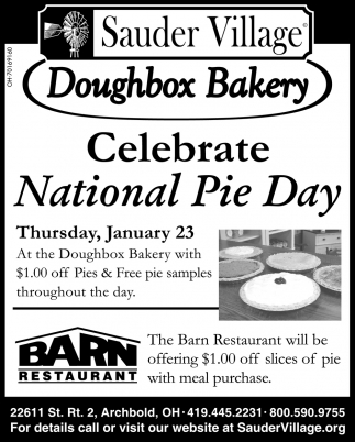 Celebrate National Pie Day - January 23