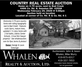 Country Real Estate Auction - February 26