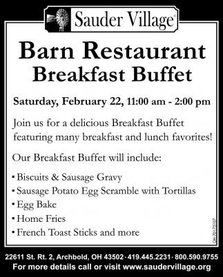 Barn Restaurant - Breakfast Buffet