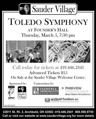 Toledo Symphony - March 5